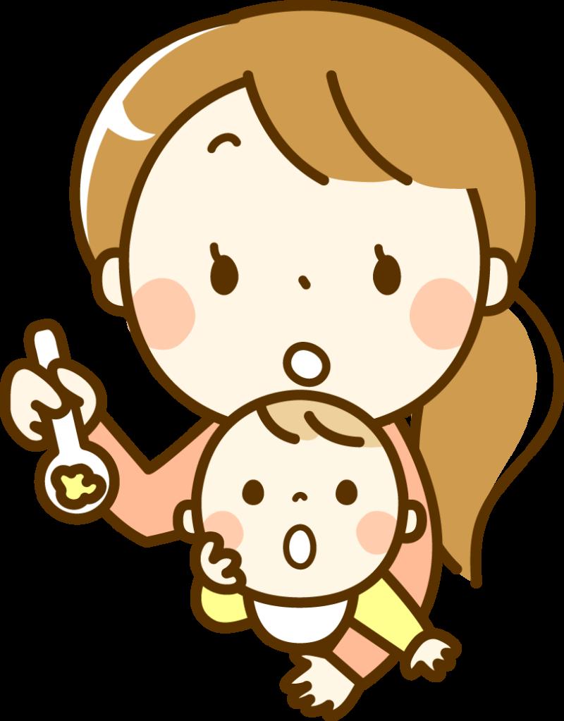 あかちゃんとお母さん