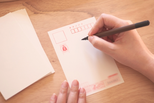 年賀状を書く手