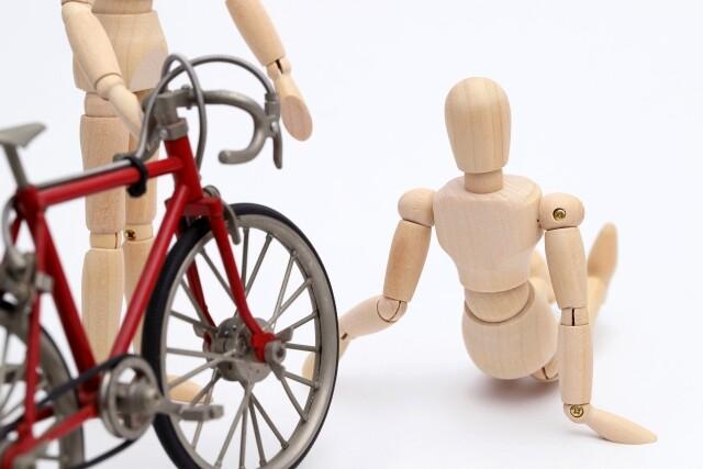 自転車が歩行者と接触