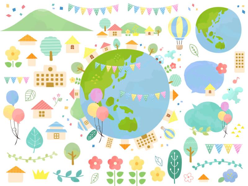 カラフルな地球