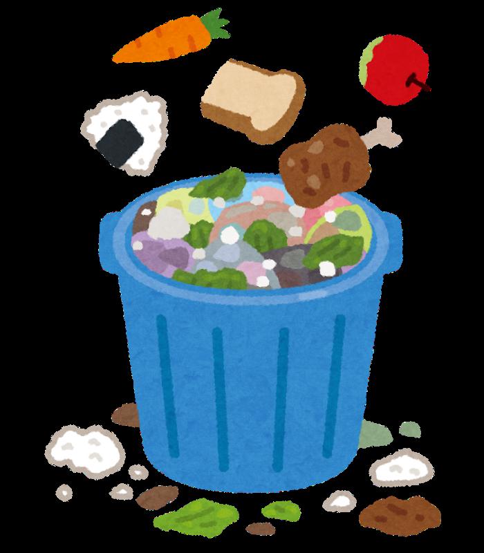 食べ物とゴミ箱